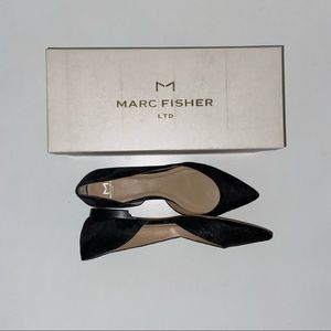NWT Marc Fisher Sunny D'Orsay Embroidered Flat